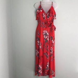 Band of Gypsies faux wrap maxi dress. EUC!